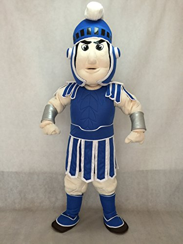 rushopn Dark Blue Spartan Trojan Knight Sparty Mascot Costume