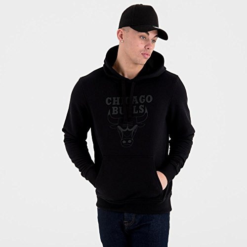 Hoodie Logo Black Team Nba New Chicago Era Noir Bulls wqxIHWtFWR