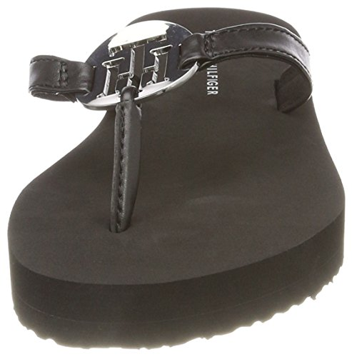 Flops 990 Hardware Beach black Tommy Metal Black Sandal Hilfiger Flip Women''s C0wq7B