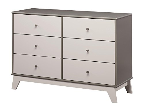 Little Seeds Rowan Valley Flint 6 Drawer Dresser, Two Tone Gray by Little Seeds