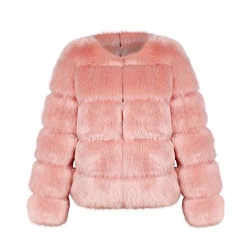 Pelliccia Vicgrey Giacca Elegante Scialle Parka Caldo Pelliccia Sintetica ❤ Donna Rosa Moda Casuale Di Outwear Cappotto Invernale wYnvrRx4qY