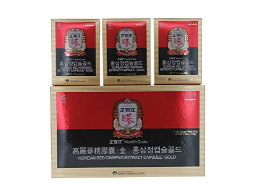 Cheong Kwanjang By Korea Ginseng Corporation Korean Red Ginseng Extract Capsule Gold 100capsule (60g) 3 pack by Cheong Kwanjang By Korea Ginseng Corporation