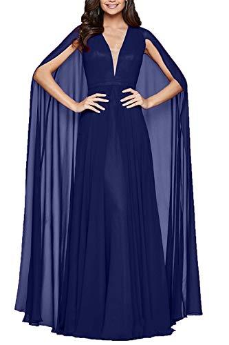 La Braut 2018 Abschlussballkleider Lang Chiffon Blau Brautmutterkleider Dunkel Partykleider Royal Abendkleider Neu mia Festlichkleider r6w5qUnBr