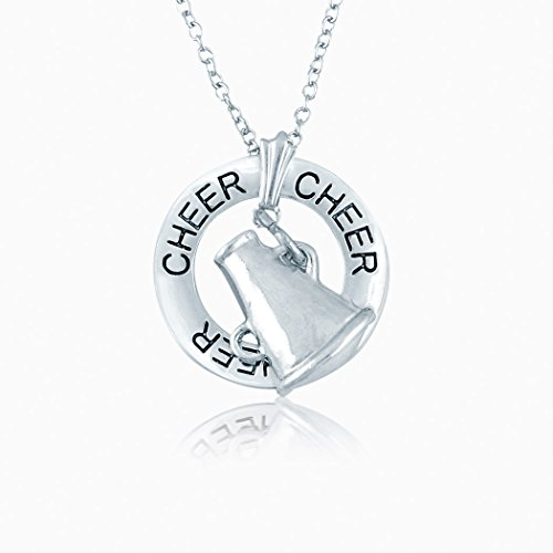 - ChalkTalkSPORTS Cheer Ring and Megaphone Charm Necklace