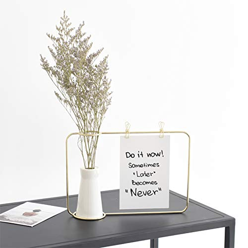 Janicestyle White Ceramic Flower Vase with Metal Stents for photos,notes- Home Decor Vase and Table Centerpieces Vase,Gift for Weeding Home/Office Decor, Fireplace, Floor, Spa, Aromatherapy Settings by Janicestyle (Image #4)