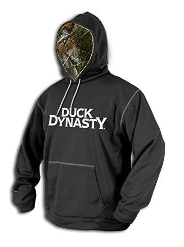 UPC 847381085543, Men's Duck Dynasty Performance Hoodie Caviar / Realtree Xtra, Realtree Xtra/Caviar, 2XL