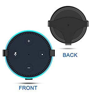 eBoot Solid Metal Wall Mount Stand Holder Stand Bracket for Amazon All-New Echo Dot 2nd Generation (Black)