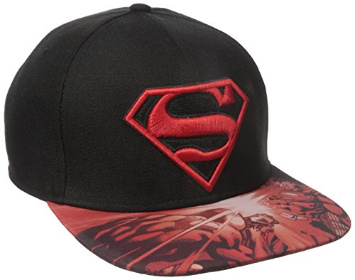 Logo Béisbol Bill Snapback Gorra DC Superman De Comics Sublimated AganE8q