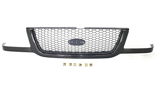 Evan-Fischer EVA17772022951 Grille for Ford Ranger 01-03 Mesh Insert Painted-Black Shell/Painted-Dark Gray Insert Replaces Partslink# FO1200395 (Ranger 2003 Ford Grille)