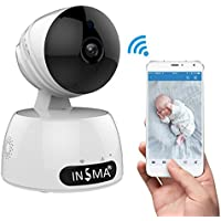 INSMA 1080P Security Camera WiFi or Ethernet, 2 Way Audio, Motion Detect, Night Vision, Smart APP for IOS and Android