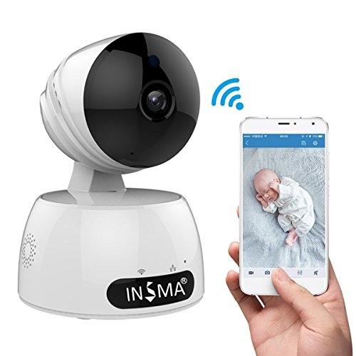 INSMA 1080P/HD Camera Best Mother's Days Gift, Wireless IP Camera with 2 Way Audio Motion Detect, Night Vision, Smart APP for for Pet Baby Monitor, Home Security Camera Motion Detection Indoor Camera by INSMA