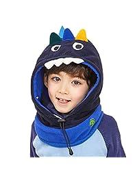 TRIWONDER Kids Balaclava Face Mask Fleece Ski Mask Neck Warmer Nose Warmer Face Cover Winter Animal Hood Hat for Boys Girls