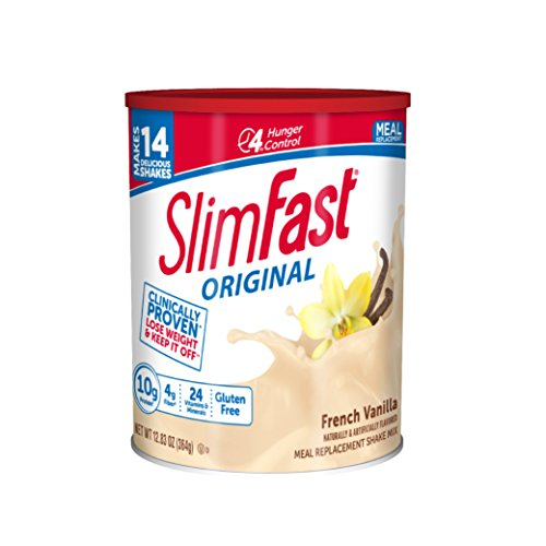 SlimFast Original Meal Replacement Shake Mix - French Vanilla - Weight Loss Powder - 12.83 oz Canister