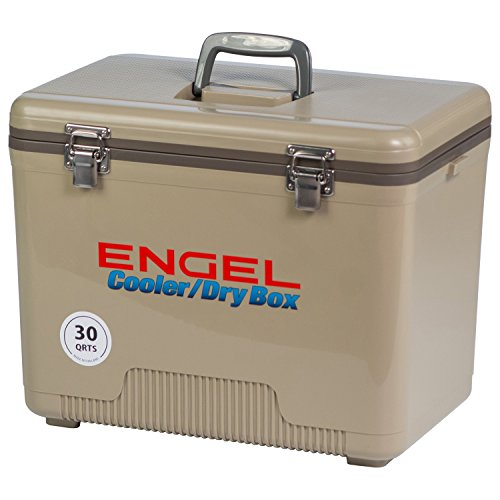 ENGEL COOLERS 30 QUART COOLER/DRY BOX - TAN