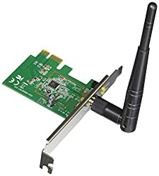 Asus (Pce-n10) Wireless-n Network Adapter (150mbps Transmit 150mbps Receive) With Pci-e Interface, Include Full Height & Low Profile Bracket, Wps Button Support