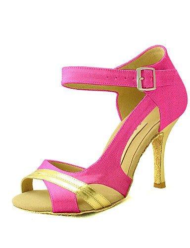 Naisten Fuksia Musta Punainen Valkoinen Shangyi Vaaleanpunainen Lila Kantapää Satiini Tanssikengät Muokattavissa Salsa Latinalaisen Keltainen Sininen Fuksia Räätälöityjä 5nqw4gfa