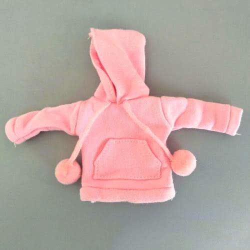 New For Barbie Hoodie For Barbie Sweat Jacket W Hood /& Pockets /& Pom Poms Pink