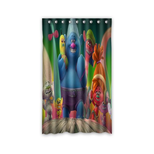 Cool Trolls Bedroom Drapes