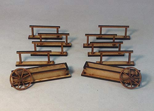 Hitching Posts Water Troths 28mm MDF Kit Tombstone Desperado Legends Old West Terrain
