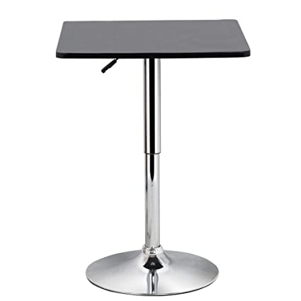 half off c8400 86134 Yaheetech Bar Table Pub table High Top Table Black Square Table MDF Top  Swivel Counter Height Adjustable 27.6-35.4''