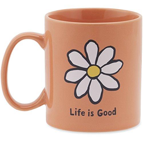 Life is good Jake's Daisy Mug, Fresh Coral, One Size
