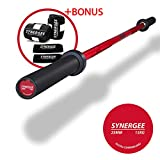 iheartsynergee S-3 15kg Colored Women's Red Cerakote Barbell. Rated 1500lbs for Weightlifting, Powerlifting and Crossfit Review