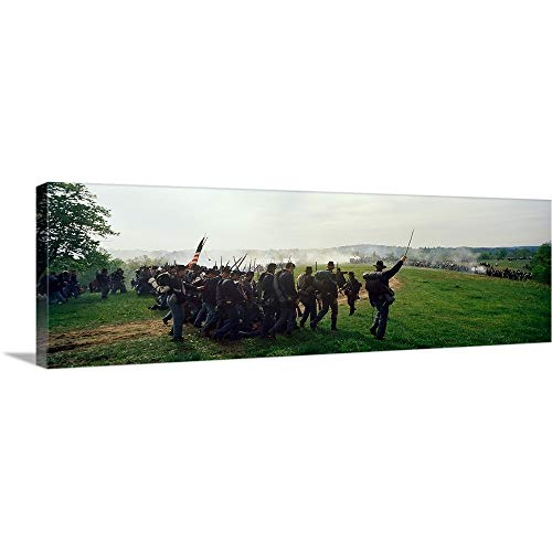 - Solid-Faced Canvas Print Wall Art Print Entitled Union vs. Confederacy Pea Ridge Civil War Battle Reenactment, Ozark Mountains, Arkansas, 60