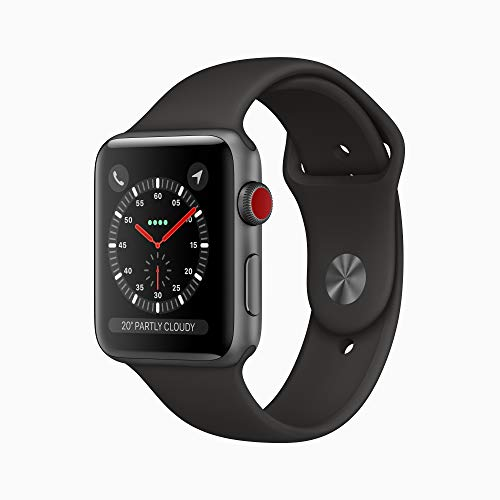 Apple Watch Series 3 (GPS, 38mm) – Space Grey Aluminium Case with Black Sport Band