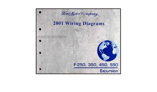 2001 ford f 250 350 450 550 excursion wiring diagram manual original rh amazon com