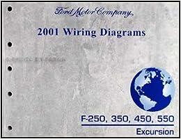 2001 Ford F250 350 450 550 Excursion Wiring Diagram Manual Original