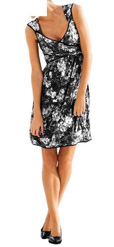 Heine - Vestido - Camisa - para mujer multicolor negro/blanco 44