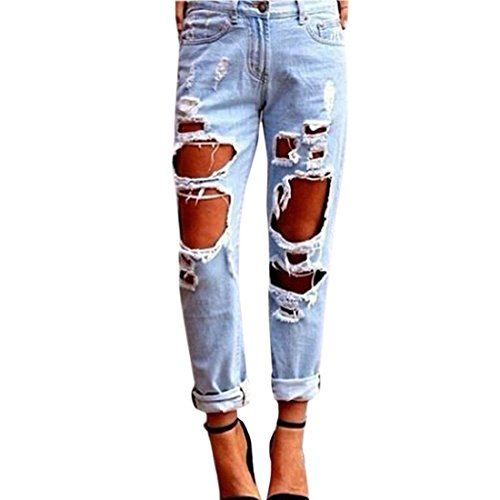 7fa3cf14831a Paixpays Sexy Women Destroyed Ripped High Waist Slim Pants Boyfriend Jeans  Demin Trousers