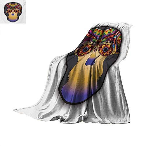 Tattoo Weave Pattern Blanket Hippie Happy and Dead