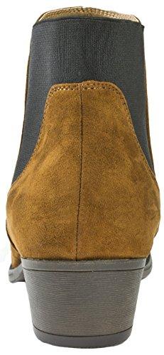 With Chelsea Womens Around Heel Brandy Chunky Lora Wrap Boots Dora Gusset Block ORqUX8