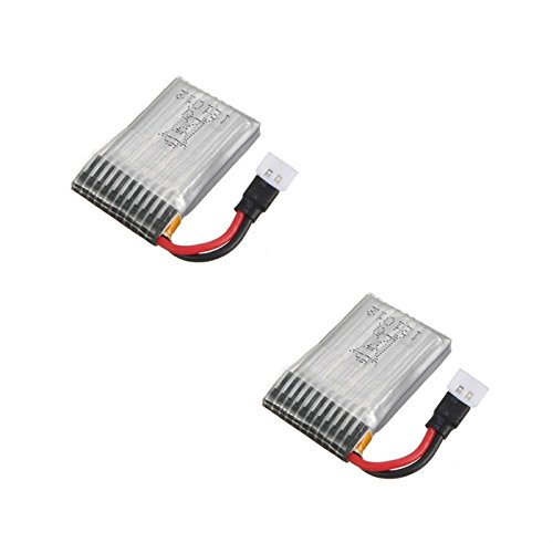 HobbyFlip Battery 3.7v 240mAh 25c Li-Po RC Part Compatible with X-Drone Nano H107R 2 Pack (Battery Nano Xdrone)