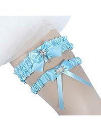 Ealafee 2019 Handmade Lace Wedding Garter Set for Bride Party Bridal Leg Garters