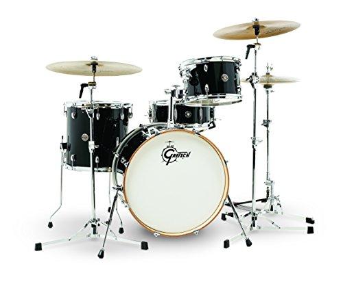 Gretsch Drums CT1-J404-PB Catalina Club 4 Piece Drum Shell Pack, Piano Black