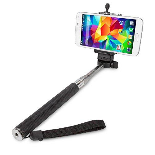 Nokia Lumia 635 Stand and Mount, BoxWave [SelfiePod] Selfie Stick Extendable Arm for Nokia Lumia 635 - Jet Black