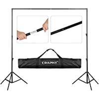 CRAPHY 2x3m Studio Backdrop Stand Adjustable Background Support System with Carry Bag for Photo Video Photography YouTube