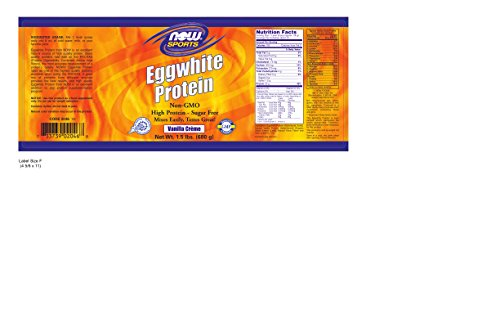Now Sports Eggwhite Protein Vanilla Creme Powder, 1.5-Pound