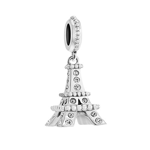Authentic Chamilia Sterling Silver Pave Eiffel Tower 2025-1592