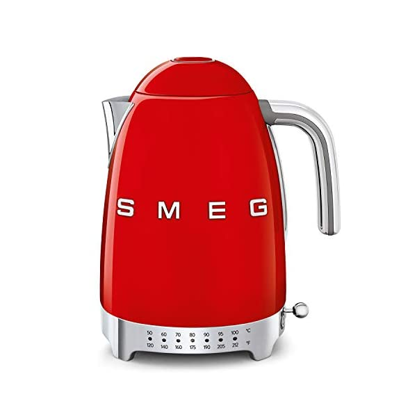 Smeg Electric Kettle, 1.7L, Red 1