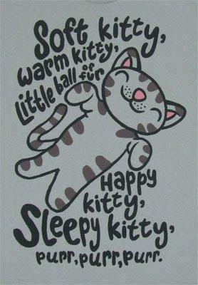 The Big Bang Theory Soft Kitty Warm Kitty Ice Grey Mens T-Shirt Tee