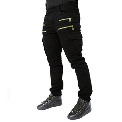 Men's Trousers Wish Men's Folding Elastic Jeans Cotton spot Trousers,Green,L by Puissant Pants (Image #4)