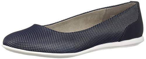 Aerosoles A2 Women's Pay Raise Ballet Flat, Navy Combo, 7 M US