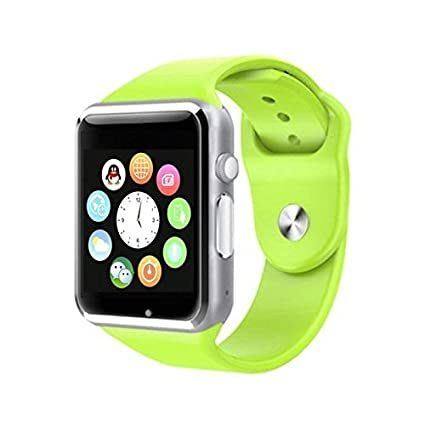 first rate bfbc2 84196 Moblios Bluetooth Smartwatch with Camera and Sim Card Support for iPhone 8  Plus, All 3G, 4G Phone, Apple and Android Phones (Green)