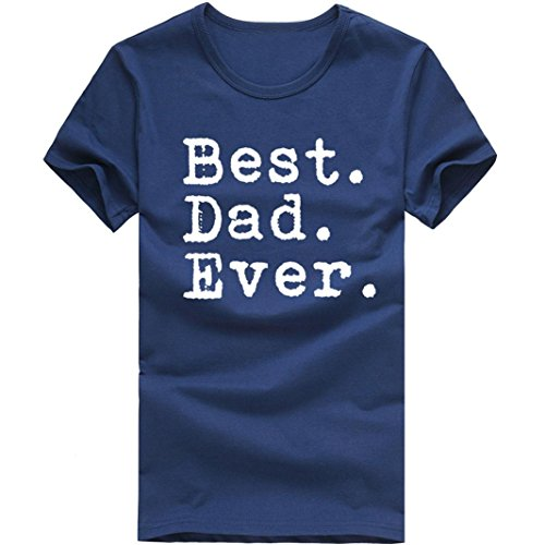 FUNIC Men's Summer T-Shirt, Mens Casual Letter Print Round C