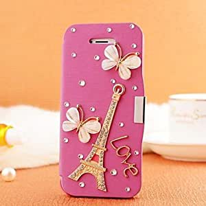 QJYB Samsung S3 I9300 compatible Special Design/Diamond Look PU Leather Full Body Cases/Jewel Covered Cases , White