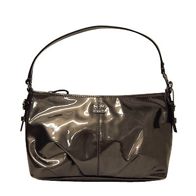 Coach Madison Patent Leather Demi Shoulder Bag Purse Tote 46619 Pewter, Bags Central