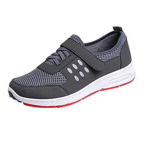 Shoes Frestepvie Loop Walking Women's Hook Trainers Mesh Grey Running Girls Athletic Sports Strap and Gym Sneakers PPgqrx0U